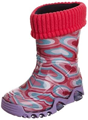 Toughees Warm Fleece-sock Heart Wellies Pink Wellingtons Boot 028k 5 Uk Toddler, 20/21 Eu