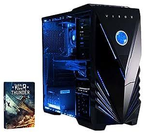 VIBOX Gaming PC - Rapid 4 - 4.2GHz Intel i7 Quad Core CPU, GTX 1050 Ti GPU, Desktop Computer with Game Bundle, Blue Internal Lighting and Lifetime Warranty* (Super Fast Intel i7 7700 Kabylake 4-Core CPU Processor, Nvidia GeForce GTX 1050 Ti 4GB Graphics Card GPU, 16GB DDR4 2133MHz High Speed RAM Memory, 2TB (2000GB) Sata III 7200rpm Hard Drive HDD, 85+ Rated PSU Power Supply, Vibox Tactician Blue LED Gaming Case, Intel B250 LGA1151 Motherboard, No Operating System Installed)