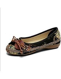 Zapatos Planos Cómodos Wild Casual Zapatos Negro/Marrón/Blanco Tamaño 35-40