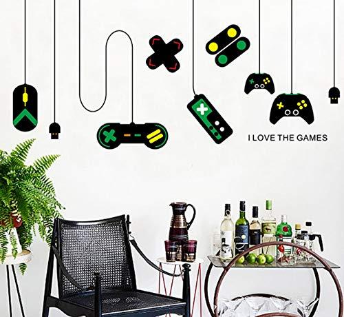 Spielkonsole Spiel Griff Dekorative Kronleuchter Wand Befestigt Internet Cafe Studie Computer Tisch Hintergrund Aufkleber