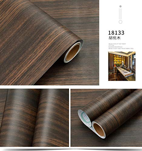 Nachahmung Holzmaserung Pvc-Material Wasserdichte Tapete Selbstklebende Tapete Kleiderschrank Desktop Tür Aufkleber Möbel Schlafzimmer Wohnzimmer Wand - Nussbaum 122cm×500cm -
