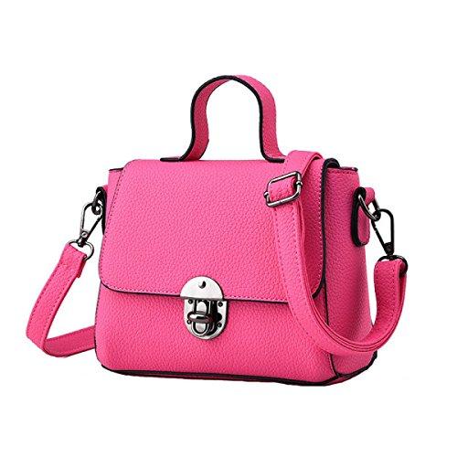 Damen-Tasche Kleine Frische Mode-Tasche Messenger Bag Schultertasche Red1