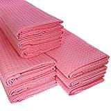 Big Pack. 9Rosa/Pink strofinacci in piqué di cotone/cialde/Telo da cucina/panno di pulizia/Straccio/Strofinaccio/Polvere panno/alta qualità/qualità/Ultra assorbente