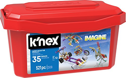 K\'NEX 33121 - Building Set - 521 Super Value Tub - 521 Pieces - 7+ - Bau- und Konstruktionsspielzeug
