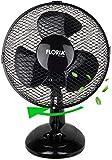 Tischventilator Ø23 cm 25 Watt | Ventilator | Rotation zuschaltbar | oszillierend | leiser Betrieb | Luftkühler | Windmaschine | geeignet für Büro, Schlafzimmer, Wohnzimmer | (23 cm)
