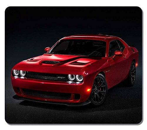 Gaming Mouse Pad, Extra Large Mouse Mat 12.87x11.02x0.15 IN, Customize Dodge Challenger Srt Hellcat Natural Eco Rubber Oblong MousePad Computer Desk Stationery Accessories Mouse Pads For Gift -