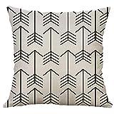 Xmansky Simple lino multicolor polígono cosido funda de almohada abrazo funda de almohada