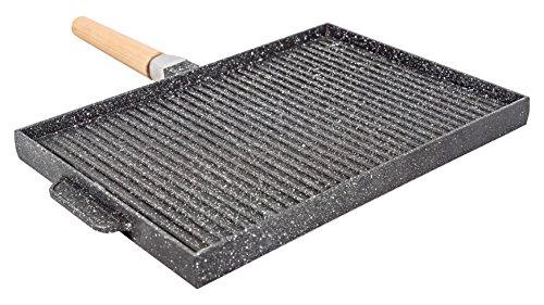 Sirio double face grill rettangolare, alluminio pressofuso, nero