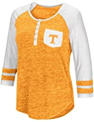 """Tennessee Volunteers NCAA Women's """"Inconceivable"""" 3/4 Sleeve Henley Shirt Chemise"""