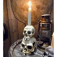 Gothic Kerzenleuchter Deko Tisch Kerzenhalter Totenkopf Säule