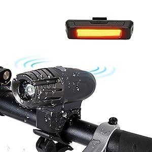 51euQihhDKL. SS300 amarey illuminazione set, Batteria Ricaricabile Impermeabile LED per bicicletta luce lampada bicicletta Set con 2 cavo…