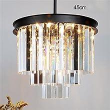 ZSQ Vintage francés araña de cristal apliques Negro Blanco Americano Cottage Lámpara de suspensión de luz colgantes para Comedor #4069