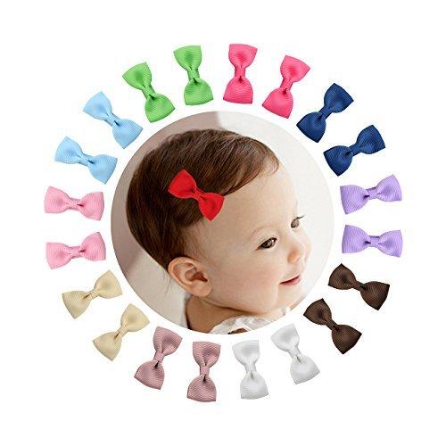 switty, 10Paar 5,1cm Tiny Boutique Ripsband Haar Schleife Alligator Clips Haarspangen für Baby Mädchen