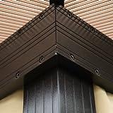 Luxus Pavillon Gartenpavillon Alu Partyzelt Gartenzelt mit lichtdurchlässigem PC Dach -