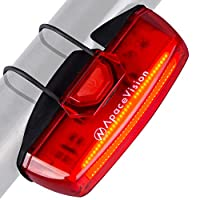 Rear Bike Light USB Rechargeable by Apace - Super Bright 100 Lumens LED Bicycle Tail Light Easily Clips on as a Red MTB Taillight for Optimum Cycling Safety - Upgraded 2019 Version