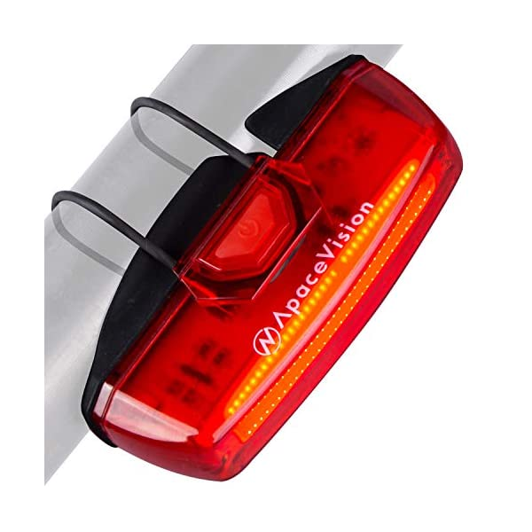 Tre Led Posteriore Ricaricabile USB Luce Rossa per Strada Bici Bicicletta MTB