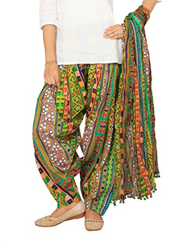 Rama Multicolor Ragular Fit Printed Full Patiala and Dupatta Set