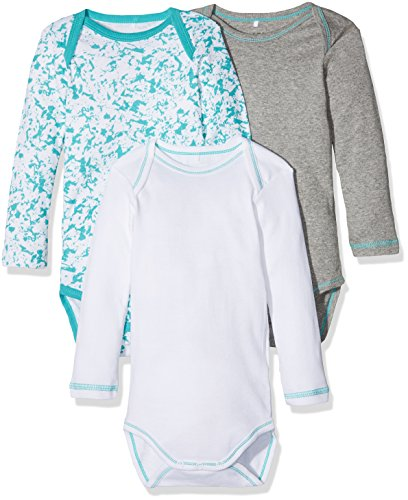 NAME IT Baby-Jungen Body Nmmbody 3P LS Baltic Noos, 3er Pack, Mehrfarbig (Baltic Baltic), 86