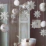 Mitlfuny Weihnachten DIY Home Decor 2019,6 STÜCKE Karton 3D Hohle Schneeflocke Ornamente Neujahr Weihnachtsdekor