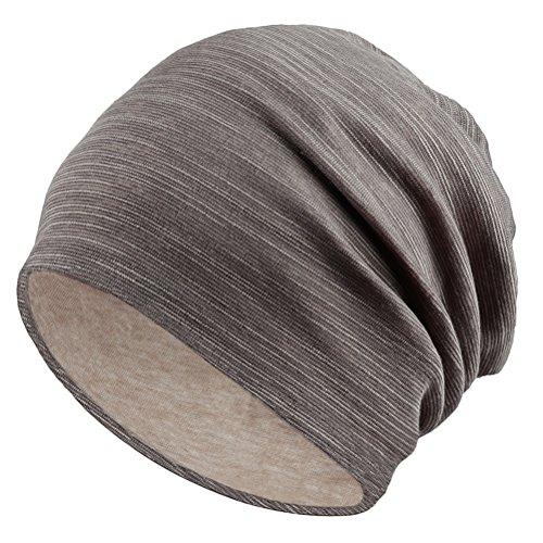 Zhhlinyuan Summer Stretch Soft Knit Lightweight Baggy Slouchy Beanie Hat Strickmützen Skull Cap for Men's Women's Clean Stretch-cap