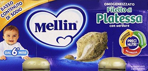 Mellin - Omogeneizzato, Filetto di Platessa - 160