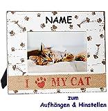 3-D Effekt _ Fotorahmen / Bilderrahmen -  I Love My Cat ( Ich Liebe Meine Kat..