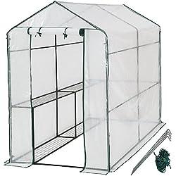 tectake Serre de Jardin PE Plastique Tente abri - diverses modèles - (186x120x190cm | No. 401861)