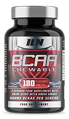 BCAA Chewable - 2000mg BCAAs x 45 Servings - Berry Flavoured BCAA Tablets | 180 Tablets by Iron Labs Nutrition