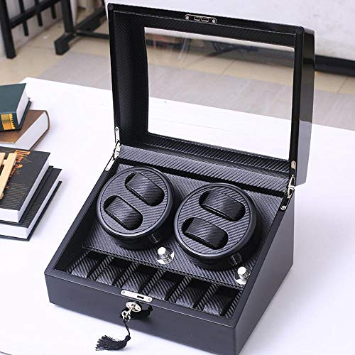 Uhrenwder Display Stand Box Watch Box Black Watch Storage Box mit Storage Box Uhren und Fluffy Kissen Case Box Schmuck Leder Schmuck Gift Man