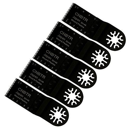 cnbtr 32x 40mm schwarz kohlenstoffreicher Stahl Universal Japan Zahn oszillierendes Sägeblatt Multi Tools Set von 5