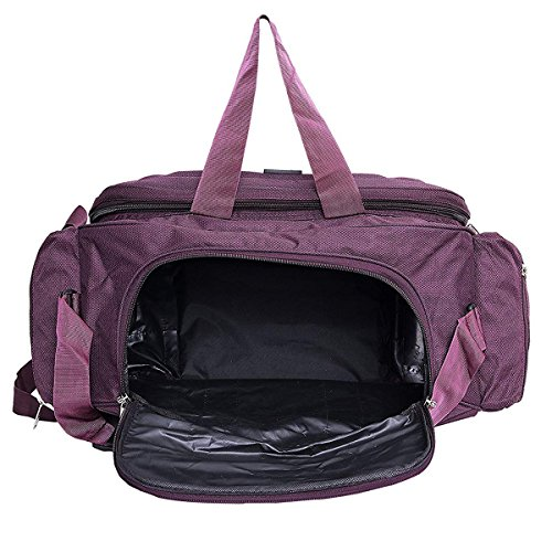 ... buy online 40bdf 4b94a alfisha Lightweight Waterproof Polyester Travel  Duffel Bag with Roller Wheels -Purple ... ce4d870324
