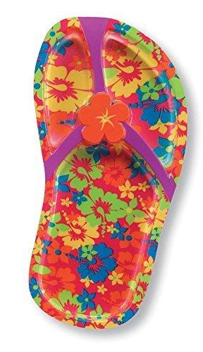 Tropical Flip flop a forma di vassoio di plastica per feste (confezione da 2)