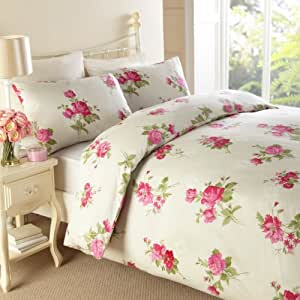 cerise pink kitchen accessories traditional floral printed bedding vintage duvet cover 5211