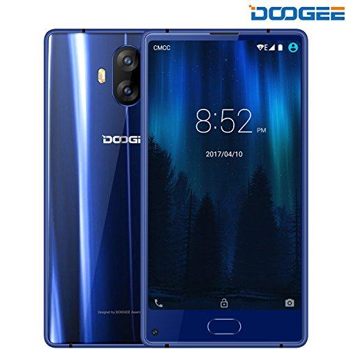 Android-handys Schöne Billige (Smartphone ohne Vertrag, DOOGEE MIX Lite Dual SIM Günstig Handy - 4G Android 7.0 Handys - 5.2 Zoll HD IPS - 2GB RAM+16GB ROM - MT6737 Quad Core - 13.0MP + 13.0MP Kamera - FingerabdruckSensor (Blau))