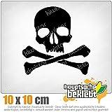 KIWISTAR Totenkopf - Todessymbol - Piratenzeichen IN 15 FARBEN - Neon + Chrom! Sticker Aufkleber