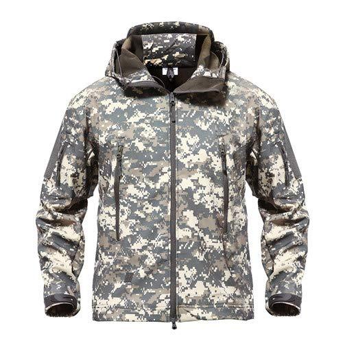 Tarnung Shjzom Shark Skin Military Jacket Herren Softshell Waterpoof Camo Kleidung Tactical Camouflage Army Hoody Winter Coat ACU XXXL -