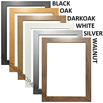 modern style solid wooden effect picture frames photo frames poster frames ready to hang or to - Wooden Poster Frames
