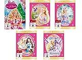"""Barbie - 5 DVD Set (Spielfilme 1-5) Barbie in Der Nussknacker, Barbie als Rapunzel, Barbie in Schwanensee, Barbie als """"Die Prinzessin und das Dorfmädchen"""", Barbie und der geheimnisvolle Pegasus (5DVDs)"""
