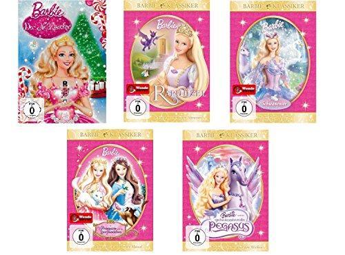 """Nussknacker Filme (Barbie - 5 DVD Set (Spielfilme 1-5) Barbie in Der Nussknacker, Barbie als Rapunzel, Barbie in Schwanensee, Barbie als """"Die Prinzessin und das Dorfmädchen"""", Barbie und der geheimnisvolle Pegasus (5DVDs))"""