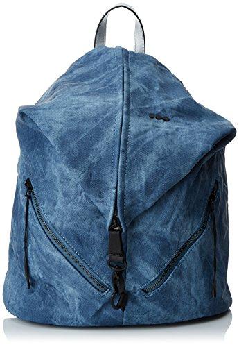 Skunkfunk  Mico, Damen Schultertasche Blau (Denim Blue)