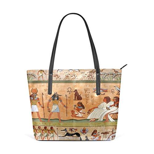 COOSUN Ägypten PU Leder Schultertasche Handtasche und Handtaschen Tasche für Frauen