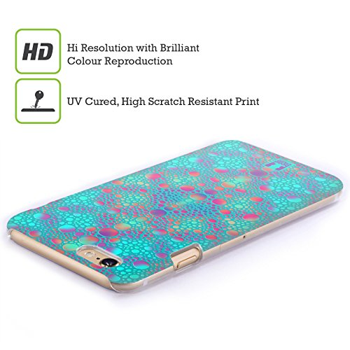 Head Case Designs Arancione Pelle Di Camaleonte Pattern Cover Retro Rigida per Apple iPhone 7 Plus / 8 Plus Blu