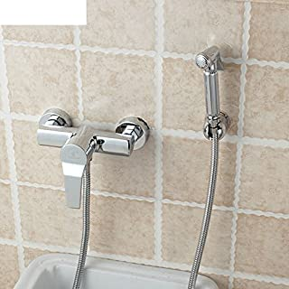 WP All Copper hot and Cold Bidet irrigator/Small Shower Bidet/Faucet with Spray Gun