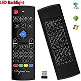 Tastiera retroilluminata ad aria Mouse Kodi Remote MX3 Pro, 2.4 Ghz Mini Wireless Android TV Control e apprendimento a infrarossi per PC Android TV Box Box di Dupad Story
