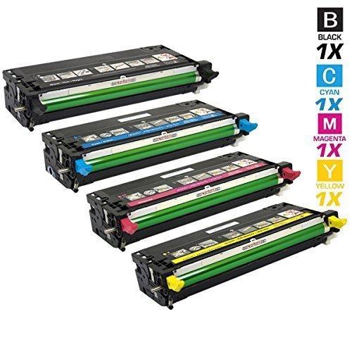 4 HOCHLEISTUNGS TONER mit 30% höhere DRUCKLEISTUNG nach (ISO-Norm 19798)ersetzen DELL PF028 ( Dell 593-10170 ) PF012 ( 593-10171 ) NF555 ( 593-10173 ) MF790 ( 593-10172 ) für DELL 3110CN , DELL 3115CN , Dell3115cn Dell3110cn ,Dell-3110cn Dell-3115cn, Der Toner (inhaltlich) ist wie beim Original Polyester -