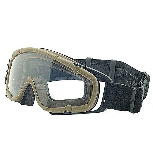 Fan Version Kühler Gläser si-ballistic Schutzbrille für Radfahren Fahren Tactical Paintball Softair Ski Snowboard 3Farben (schwarz, DE, Pink) DE