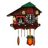 HUIFEI Reloj De Pared De Cuco Muñecas Jardín Sala De Estar Reloj De Pared Reloj De Cuco Dibujos Animados Creativos Habitación para Niños Mesa De Reloj De Aves