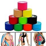 Bande de kinésiologie pour le sport. Bande physio élastique pour les muscles. Accessoire professionnel pour soulager la douleur. Pré-découpé