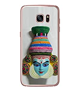 Fiobs Designer Back Case Cover for Samsung Galaxy S7 Edge :: Samsung Galaxy S7 Edge Duos :: Samsung Galaxy S7 Edge G935F G935 G935Fd (Kathakkali Ful Flower Dance Nach)