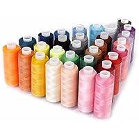 30bobinas de hilo de coser poliéster 229 m cada una, multiusos para coser a mano y máquina de coser